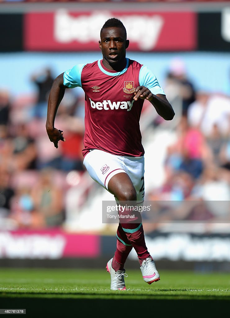 Modibo Maiga of West Ham United during the Betway Cup match between West Ham Utd and SV Werder Bremen at Boleyn Ground on August 2, 2015 in London, England.