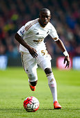Modou Barrow of Swansea City in action during the Barclays Premier League match between AFC Bournemouth and Swansea City at Vitality Stadium on March...