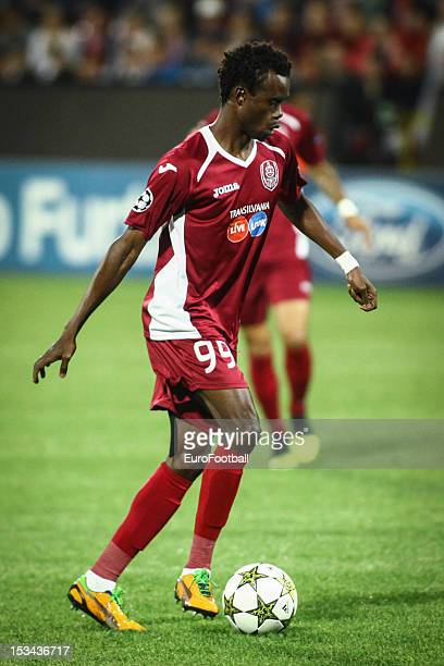 Modou Sougou of CFR 1907 Cluj in action during the UEFA Champions League group stage match between CFR 1907 Cluj and Manchester United FC on October...