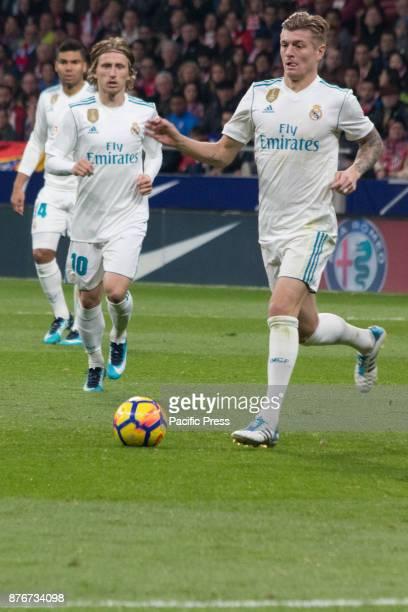 METROPOLITANO MADRID SPAIN Modric and Tony Kroos during Atletico de Madrid and Real Madrid match Null match between Atletico de Madrid and Real Madrid
