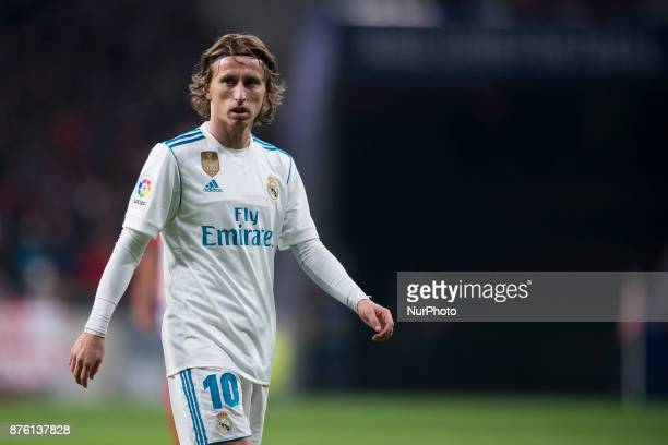 Modric during the match between Atletico de Madrid and Real Madrid week 12 of La Liga at Wanda Metropolitano stadium Madrid SPAIN 18th November of...