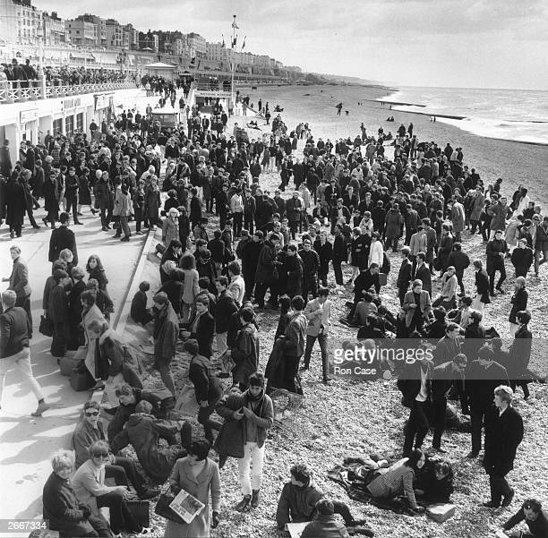 Mods and Rockers invade Brighton Beach in Sussex
