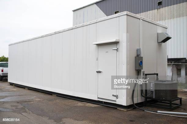 A modular farming unit is seen at Modular Farms Co headquarters in Brampton Ontario Canada on Friday Aug 11 2017 The popularity of modular farms is...