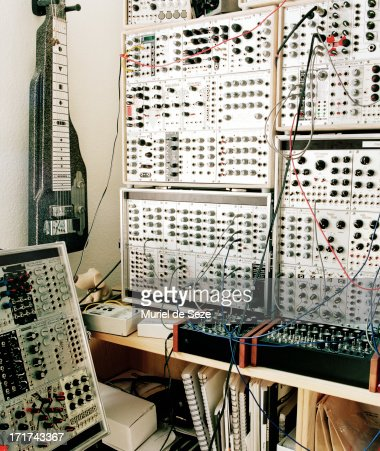 modular synthesizer in music studio stock photo getty images. Black Bedroom Furniture Sets. Home Design Ideas