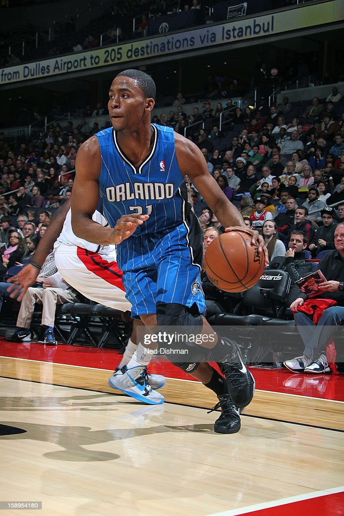 <a gi-track='captionPersonalityLinkClicked' href=/galleries/search?phrase=Moe+Harkless&family=editorial&specificpeople=8653497 ng-click='$event.stopPropagation()'>Moe Harkless</a> #21 of the Orlando Magic drives to the basket against the Washington Wizards at the Verizon Center on December 28, 2012 in Washington, DC.