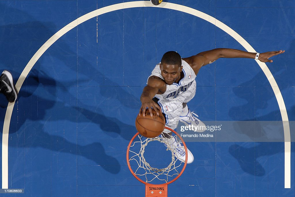 <a gi-track='captionPersonalityLinkClicked' href=/galleries/search?phrase=Moe+Harkless&family=editorial&specificpeople=8653497 ng-click='$event.stopPropagation()'>Moe Harkless</a> #21 of the Orlando Magic drives to the basket against the Cleveland Cavaliers on February 23, 2013 at Amway Center in Orlando, Florida.