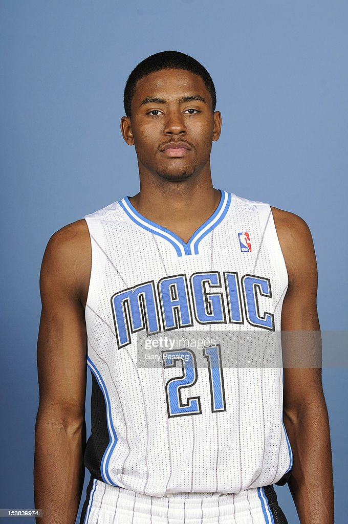 <a gi-track='captionPersonalityLinkClicked' href=/galleries/search?phrase=Moe+Harkless&family=editorial&specificpeople=8653497 ng-click='$event.stopPropagation()'>Moe Harkless</a> #21 of the Orlando Magic poses for a photo at media day on October 1, 2012 at Amway Center in Orlando, Florida.