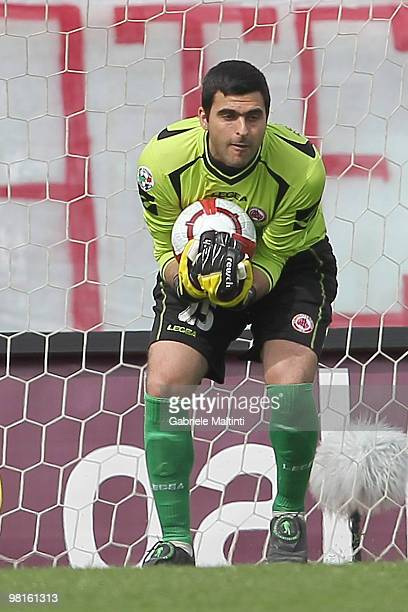 Moedim Rubinho of AS Livorno Calcio in action during the Serie A match between AS Livorno Calcio and AS Bari at Stadio Armando Picchi on March 28...