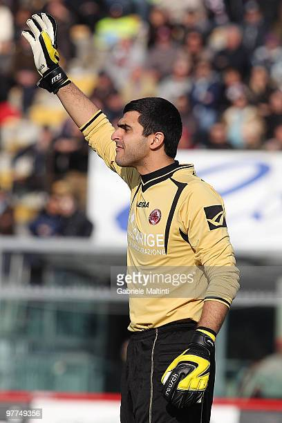 Moedin Rubinho of AS Livorno Calcio in action during the Serie A match between AS Livorno Calcio and AS Roma at Stadio Armando Picchi on March 14...