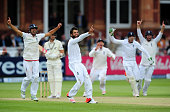 Moeen Ali of England appeals unsuccessfully for the wicket of Trent Boult of New Zealand during day five of the 1st Investec Test Match between...