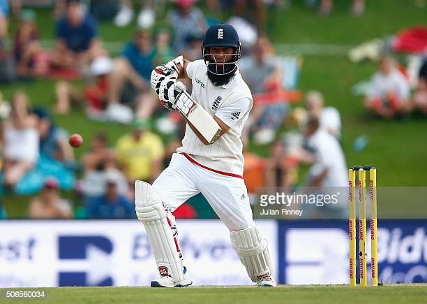 Moeen Ali of England bats during day three of the 4th Test at Supersport Park on January 24 2016 in Centurion South Africa