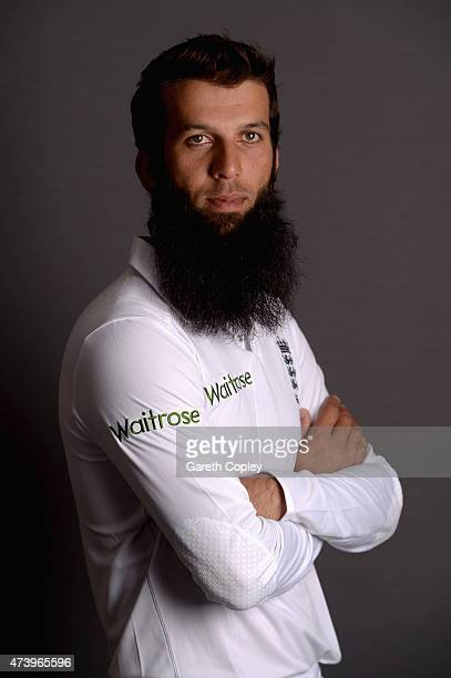 Moeen Ali of England poses for a portrait at Lord's Cricket Ground on May 19 2015 in London England