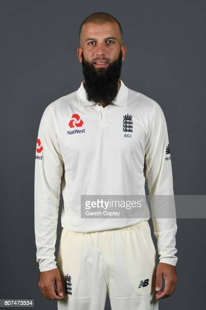 Moeen Ali of England poses for a portrait at Lord's Cricket Ground on July 4 2017 in London England