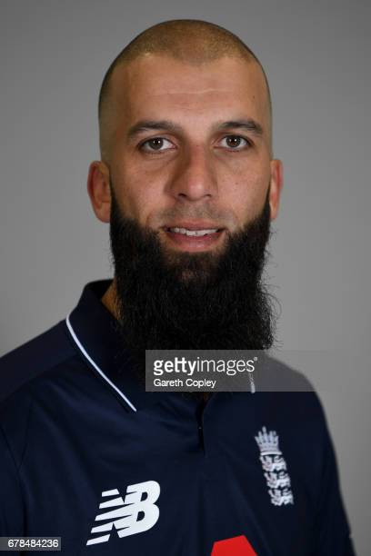 Moeen Ali of England poses for a portrait at The Brightside Ground on May 4 2017 in Bristol England