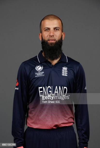 Moeen Ali of England poses for a portrait during the England Portrait session for the ICC Champions Trophy at Grange City on May 30 2017 in London...