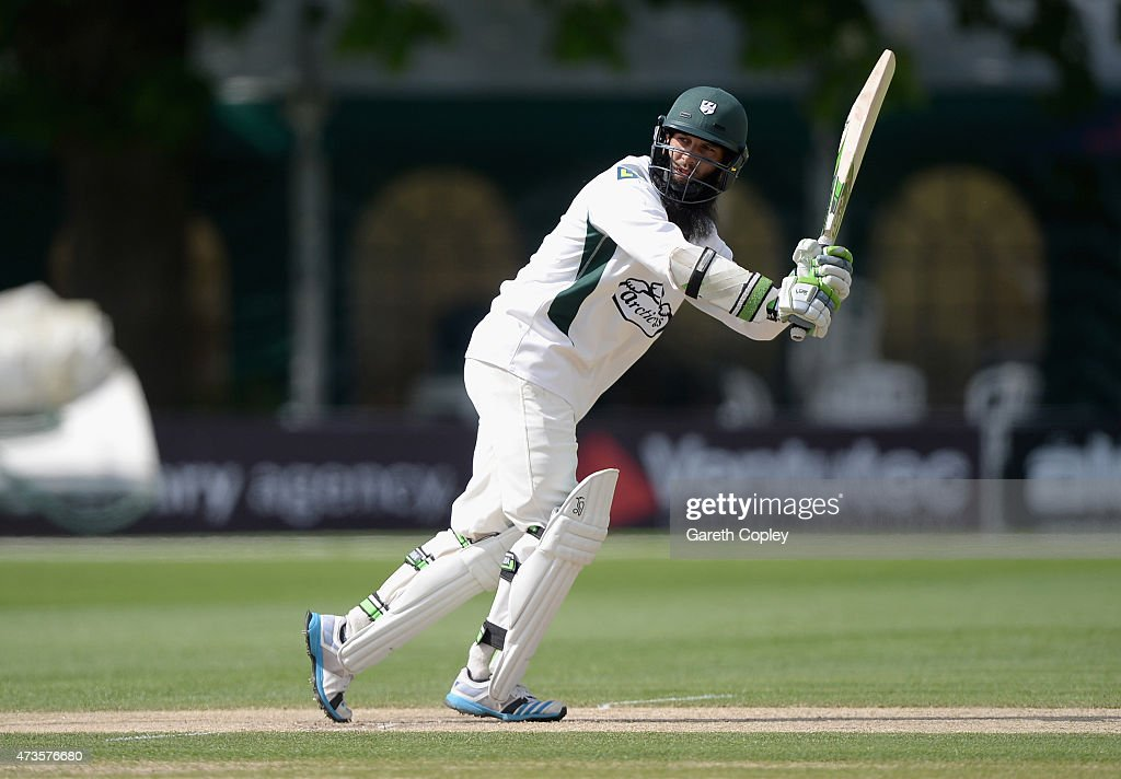 Moeen Ali of Worcestershire bats during day three of the tour match between Worcestershire and New Zealand at New Road on May 16 2015 in Worcester...