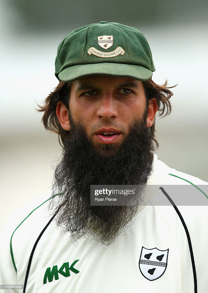 Moeen Ali of Worcestershire looks on during day one of the Tour Match between Worcestershire and Australia at New Road on July 2, 2013 in Worcester, England.