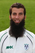 Moeen Ali of Worcestershire poses for a portrait wearing the LV=CC kit during the Worcestershire CCC photocall at New Road on April 4 2014 in...