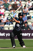 Moeen Ali of Worcestershire skies the ball off the first ball of the innings and is caught by Rob Keogh during the NatWest T20 Blast match between...