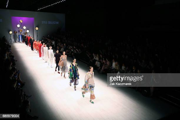 Moels walk the runway during MercedesBenz Fashion Week Weekend Edition at Carriageworks on May 20 2017 in Sydney Australia