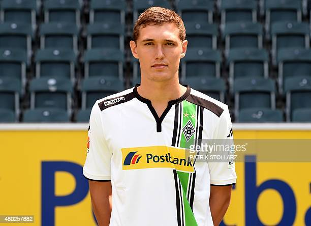 Moenchengladbach's Andreas Christensen poses during the team presentation of the German first division Bundesliga team Borussia Moenchengladbach at...