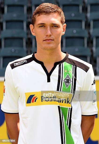Moenchengladbach's Andreas Christensen poses during the team presentation of the German first division Bundesliga team Borussia Moenchengladbach at...