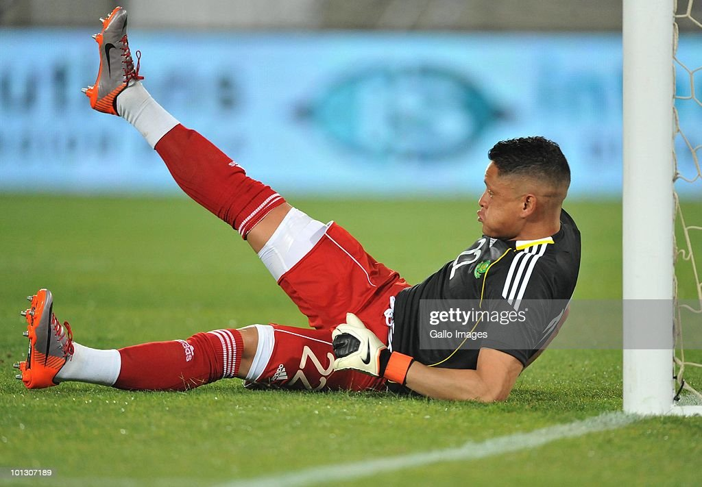Moeneeb Josephs of South Africa is shown in action during the International Friendly match between South Africa and Guatemala at the Peter Mokaba Stadium on May 31, 2010 in Polokwane, South Africa.