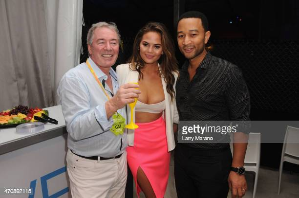 Moet Hennessy USA CEO Jim Clerkin Chrissy Teigen and John Legend attend Moet Hennessy's The Q presented by Creekstone Farms sponsored by Miami...
