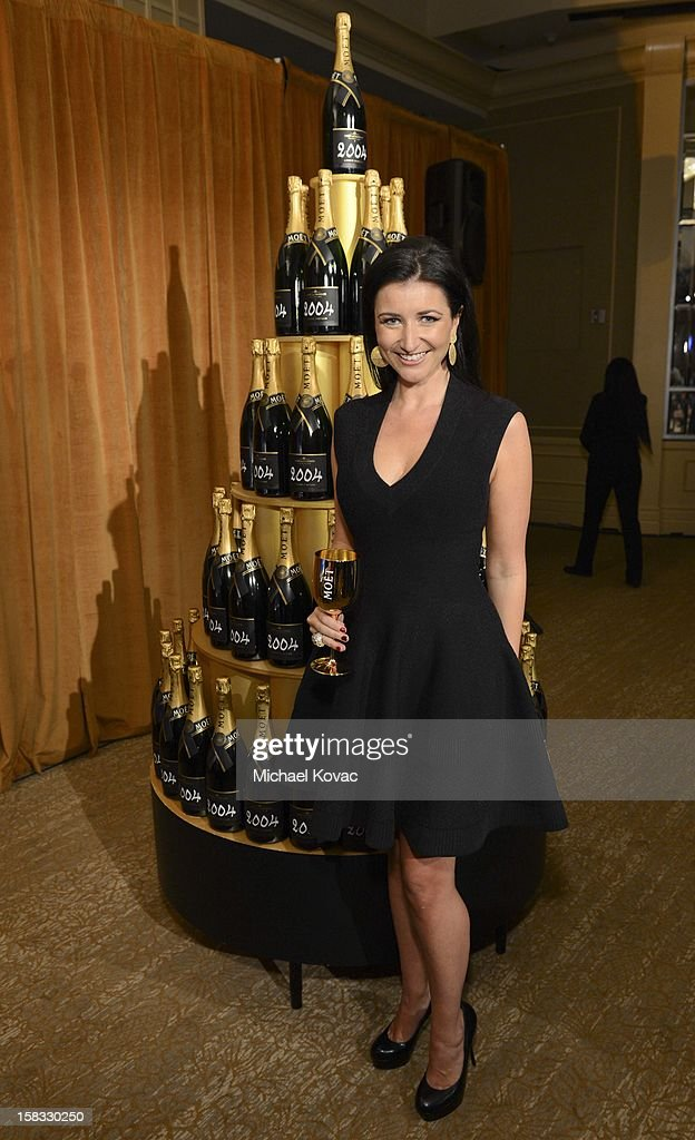 Moet's Julia Fitzroy toasts the 70th Annual Golden Globe Nominations with Moet & Chandon at the The Beverly Hilton on December 13, 2012 in Los Angeles, California.
