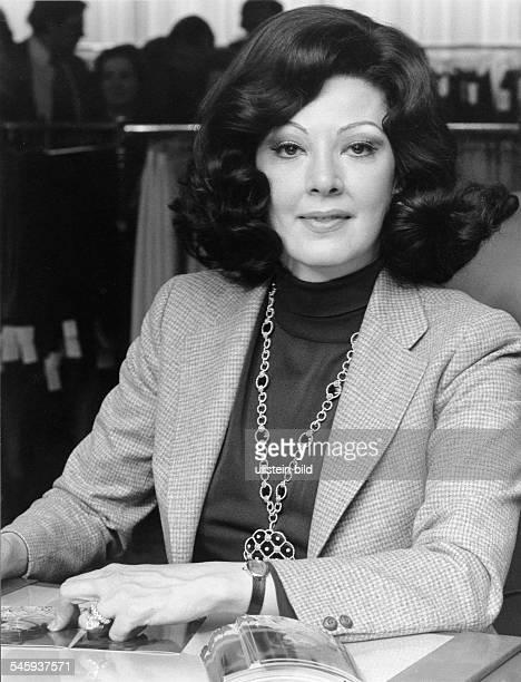 Moffo Anna *Opernsaengerin Schauspielerin USA Halbportrait 1976