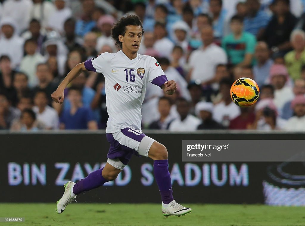 Mohamed Abdulrahman of Al AIn in action during the friendly match between Al Ain and Manchester City at Hazza bin Zayed Stadium on May 15, 2014 in Al Ain, United Arab Emirates.
