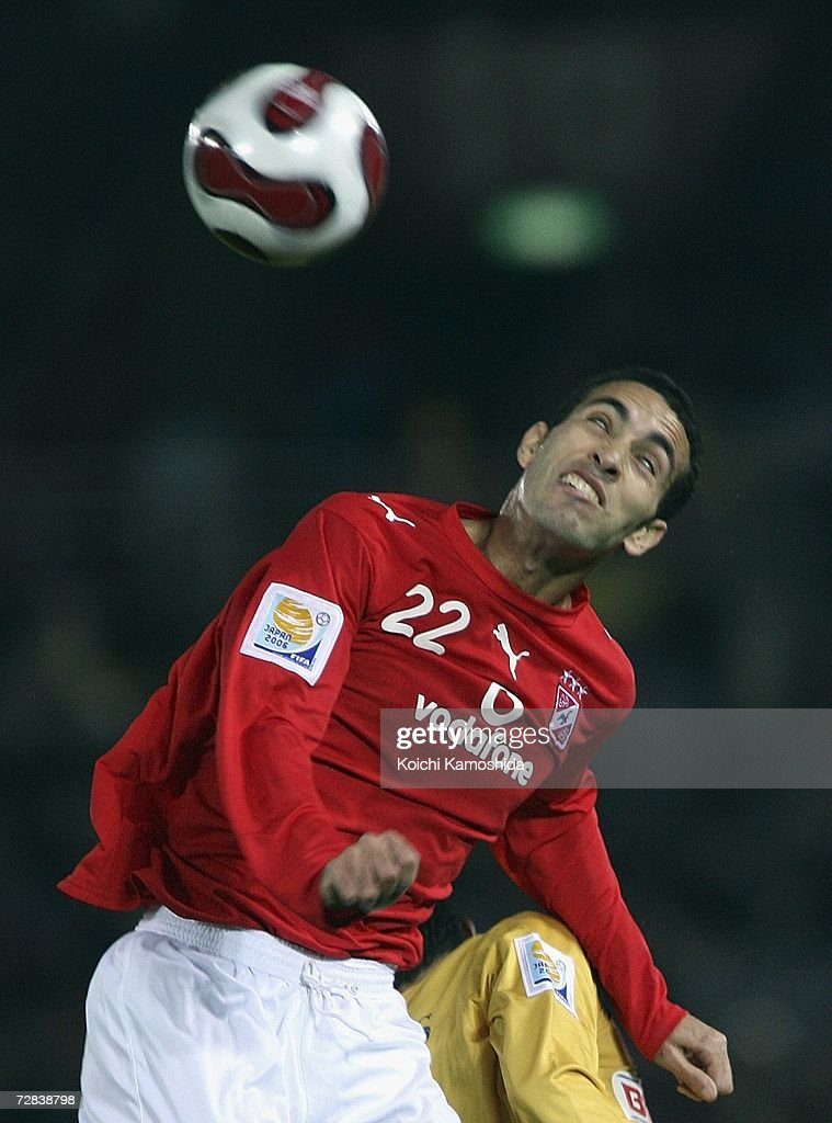 Mohamed Aboutrika of Ahly Sporting Club in action during the FIFA Club World Cup Japan 2006 third place playoff match between Ahly Sporting Club and...