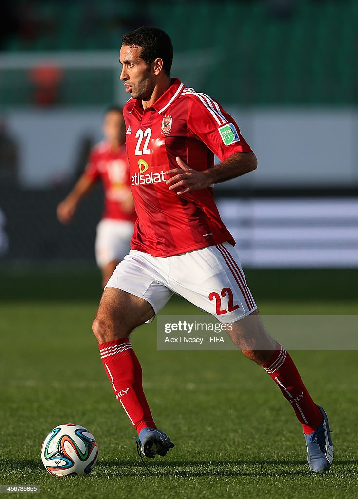 Mohamed Aboutrika of AlAhly SC during the FIFA Club World Cup Quarter Final match between Guangzhou Evergrande FC and AlAhly SC at the Agadir Stadium...