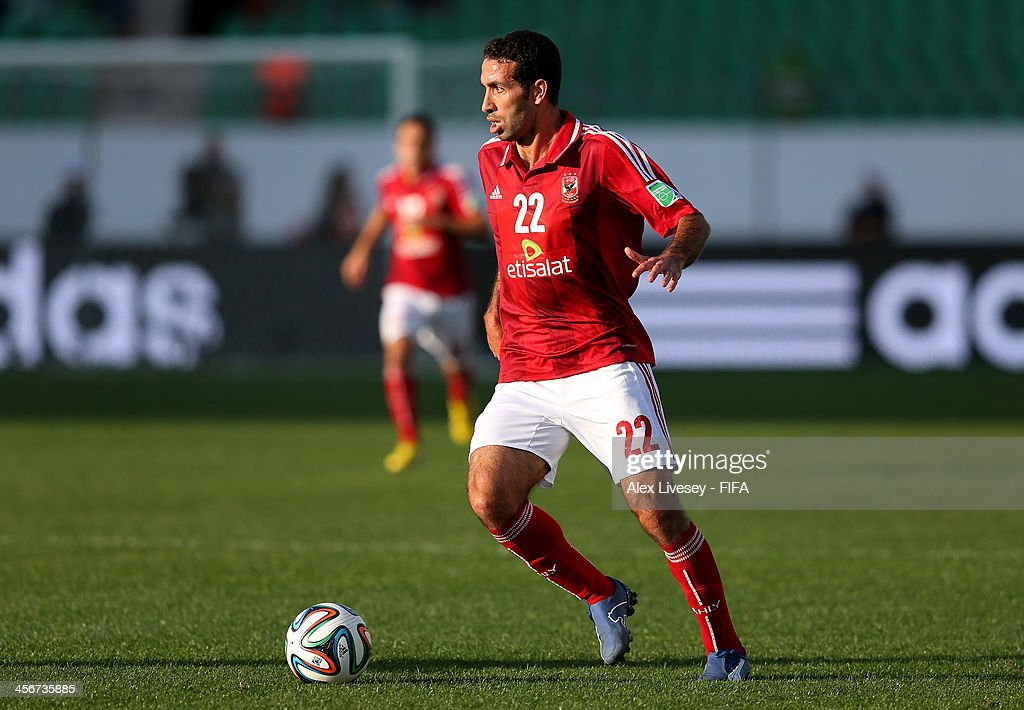 <a gi-track='captionPersonalityLinkClicked' href=/galleries/search?phrase=Mohamed+Aboutrika&family=editorial&specificpeople=4081123 ng-click='$event.stopPropagation()'>Mohamed Aboutrika</a> of Al-Ahly SC during the FIFA Club World Cup Quarter Final match between Guangzhou Evergrande FC and Al-Ahly SC at the Agadir Stadium on December 14, 2013 in Agadir, Morocco.