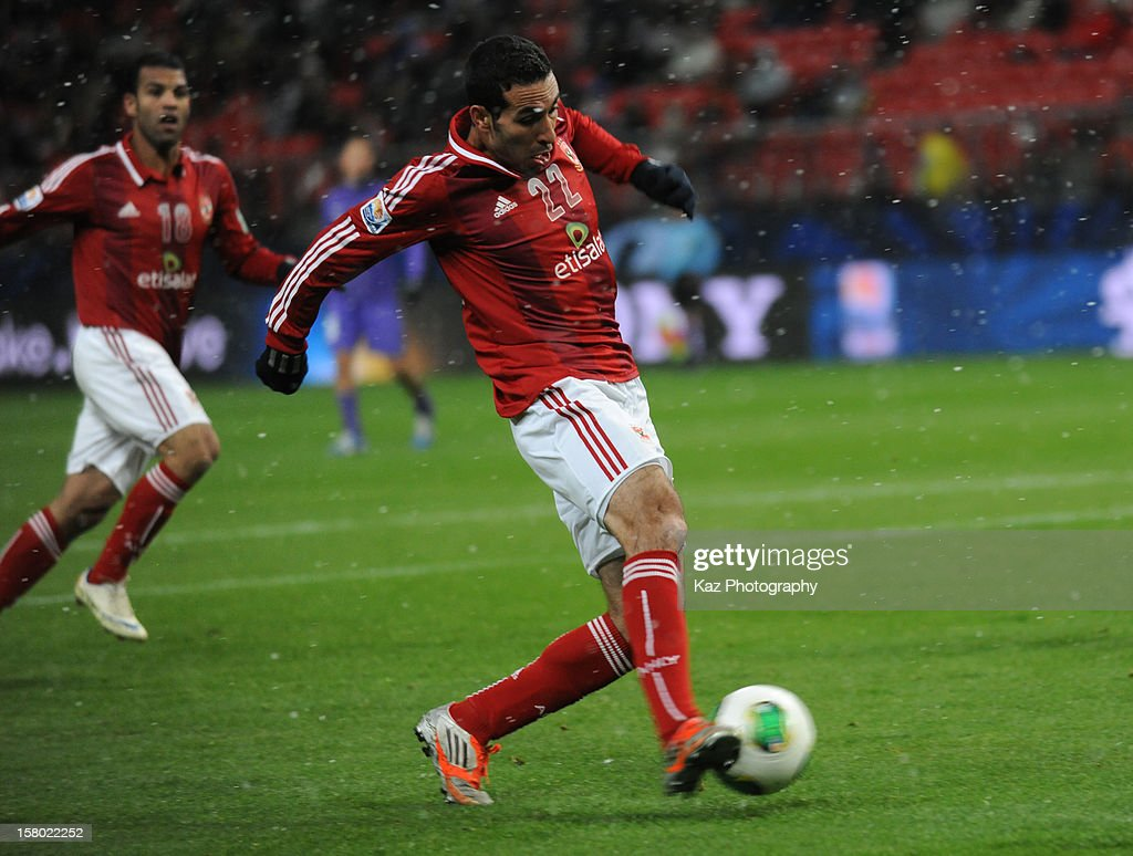 Mohamed aboutrika of AlAhly SC scores the winning goal during the FIFA Club World Cup Quarter Final match between Sanfrecce Hiroshima and AlAhly SC...