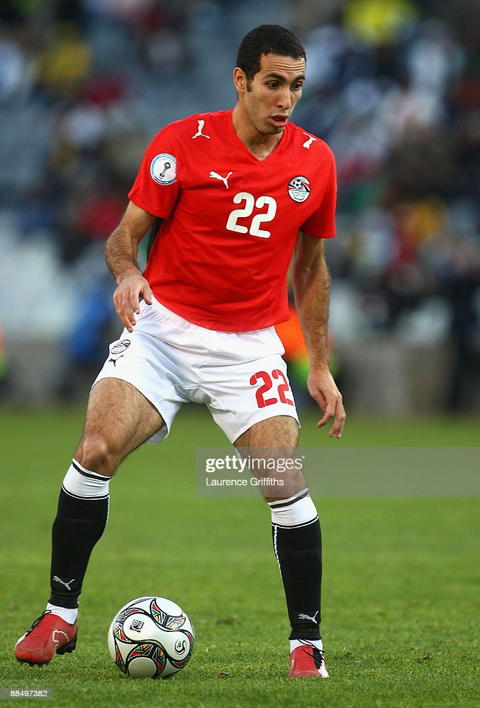 Mohamed Aboutrika of Egypt in action during the FIFA Confederations Cup match between Brazil and Egypt at The Free State Stadium on June 15 2009 in...