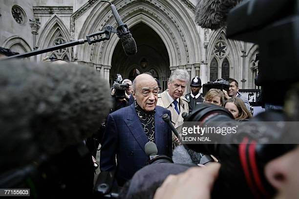 Mohamed Al Fayed arrives at London's High Court 02 October 2007 as the formal inquest into the deaths of Princess Diana and Dodi Al Fayed gets...