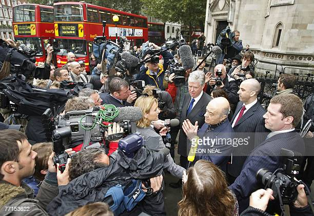Mohamed Al Fayed leaves London's High Court 02 October 2007 as the formal inquest into the deaths of Princess Diana and Dodi Al Fayed gets underway...