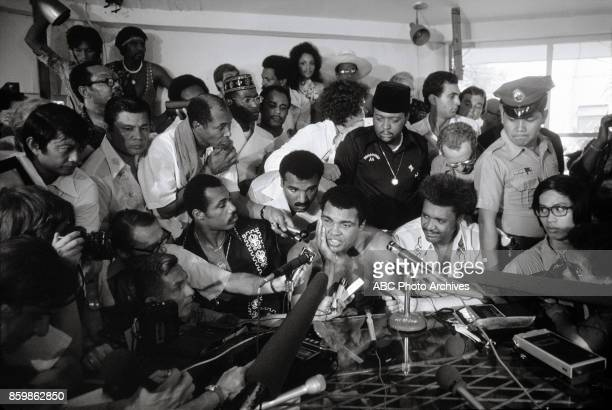 Mohamed Ali Don King at press conference The Thrilla In Manila at the Philippines Philippine Coliseum Oct 1 1975