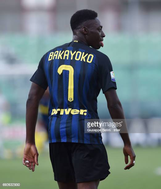 Mohamed Bakayoko of FC Internazionale in action during the Primavera TIM Playoffs match between FC Internazionale and AC Chievo Verona on June 5 2017...