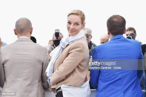 Mohamed Diab Uma Thurman and Reda Kateb attend Jury Un Certain Regard Photocall during the 70th annual Cannes Film Festival at Palais des Festivals...