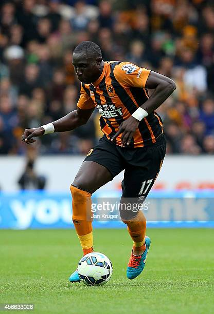 Mohamed Diame of Hull City in action during the Barclays Premier League match between Hull City and Crystal Palace at KC Stadium on October 4 2014 in...