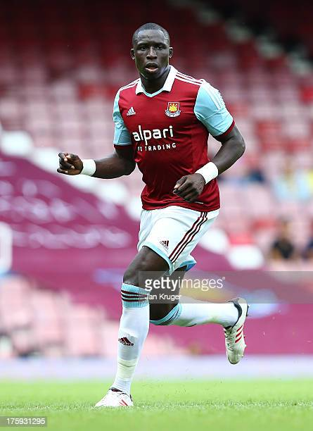 Mohamed Diame of West Ham looks on during the Pre Season Friendly match between West Ham United and Pacos de Ferreira at the Boleyn Ground on August...