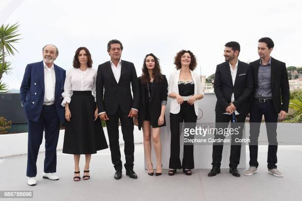 Mohamed Djouhri Aure Atika Hassan Kachach Hania Amar Nadia Kaci director Karim Moussaoui and Mehdi Ramdani attend 'Waiting For Swallows ' photocall...
