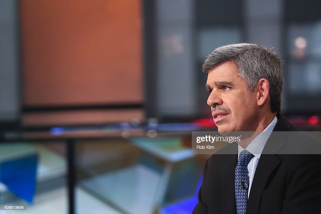 Mohamed El-Erian, Chief Economic Adviser of Allianz appears on a segment of 'Mornings With Maria' with Maria Bartiromo on the FOX Business Network at FOX Studios on April 29, 2016 in New York City.