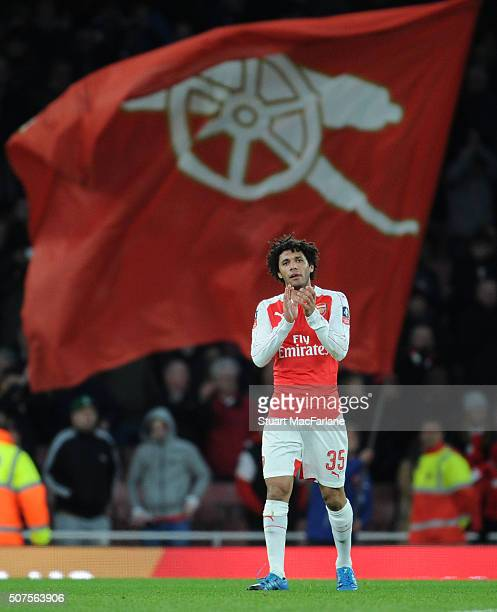 Mohamed Elneny of Arsenal after the The Emirates FA Cup Fourth Round match between Arsenal and Burnley at Emirates Stadium on January 30 2016 in...