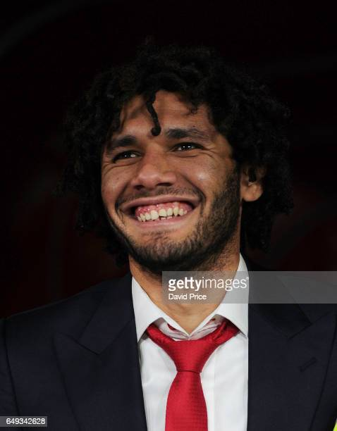 Mohamed Elneny of Arsenal before the UEFA Champions League Round of 16 second leg match between Arsenal FC and FC Bayern Muenchen at Emirates Stadium...