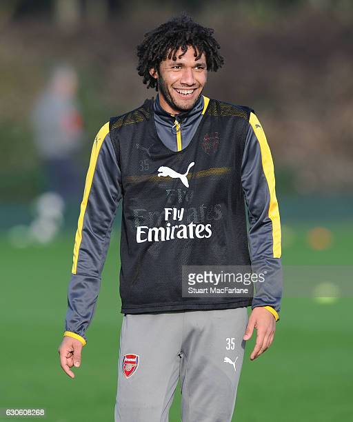 Mohamed Elneny of Arsenal during a training session at London Colney on December 28 2016 in St Albans England
