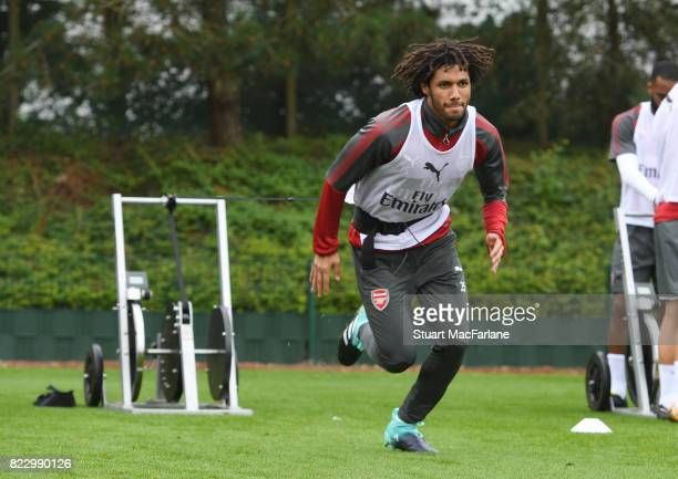 Mohamed Elneny of Arsenal during a training session at London Colney on July 26 2017 in St Albans England