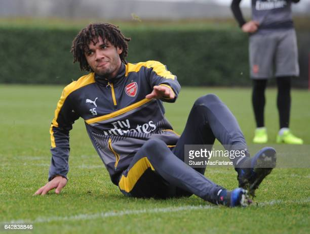 Mohamed Elneny of Arsenal during a training session on February 19 2017 in St Albans England